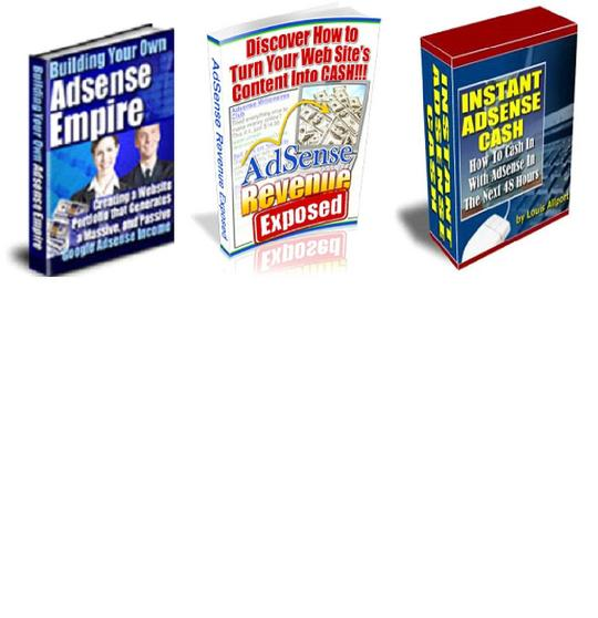 Product picture *BEST VALUE* 3-in-1 Adsense Ebook Pack - $7 with Master Resell Rights