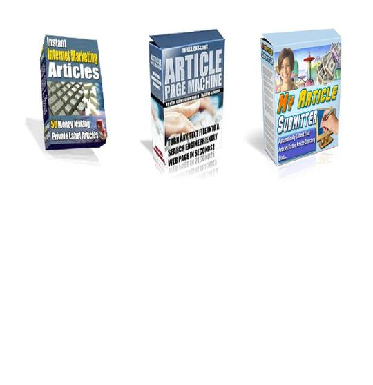 Product picture *BEST VALUE* 3-in-1 Article Marketing Pack: Includes software and articles - $7
