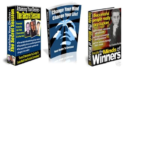 Product picture *SPECIAL OFFER* - 3 in 1 Self-help & Sucess Ebooks  Package for only $7 with Master RessellRights!